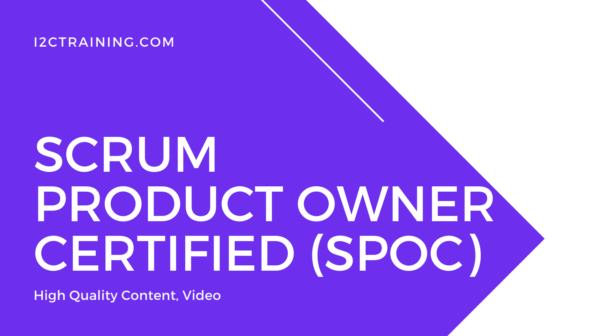 Scrum Product Owner Certified (SPOC) online course I2ctraining