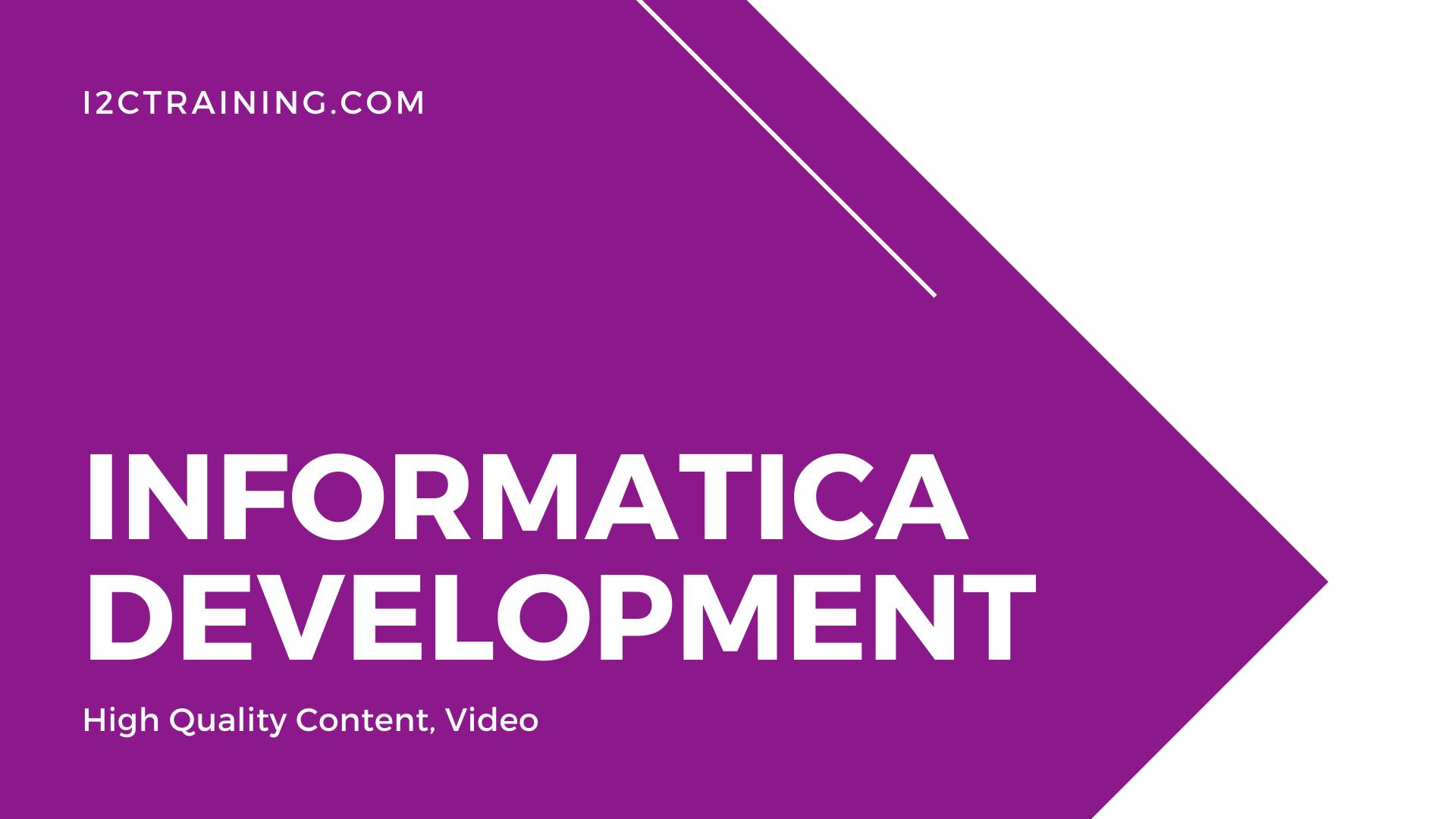 I2ctraining Online Courses informatica development